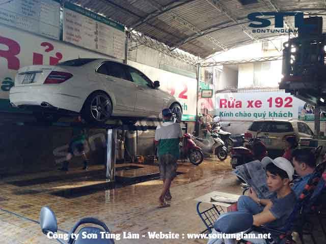cầu nâng rửa xe ô tô