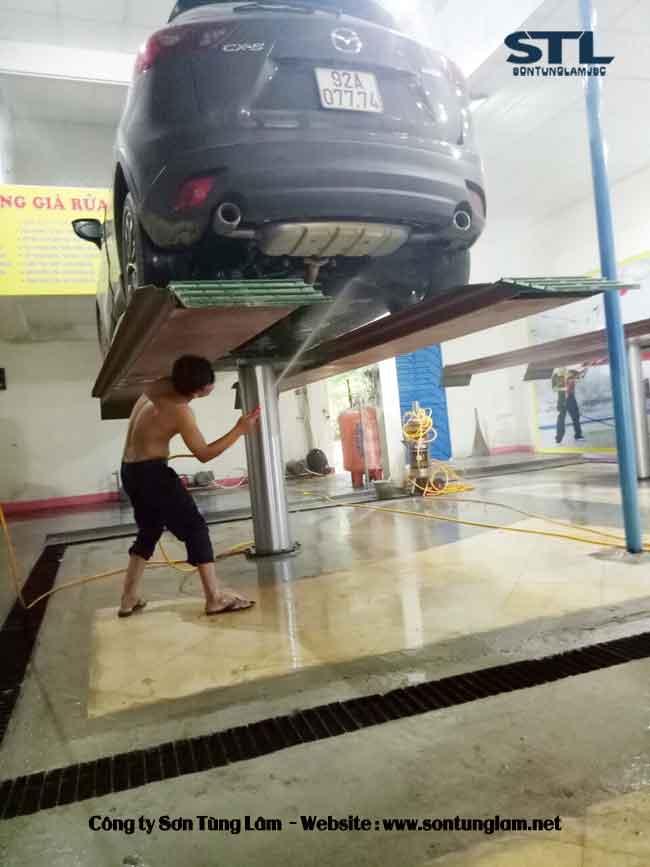 Cầu nâng 1 trụ rửa ô tô