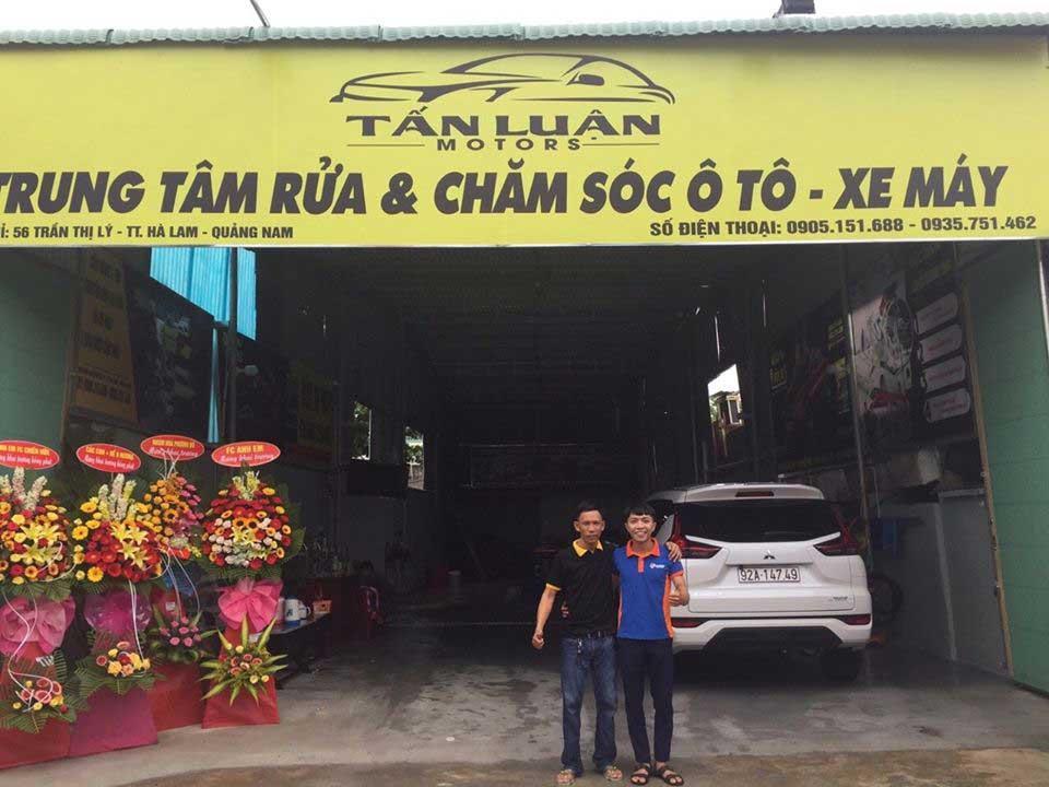 Tiệm rửa xe Tân Luận - được tư vấn và lắp đặt bởi Tahico