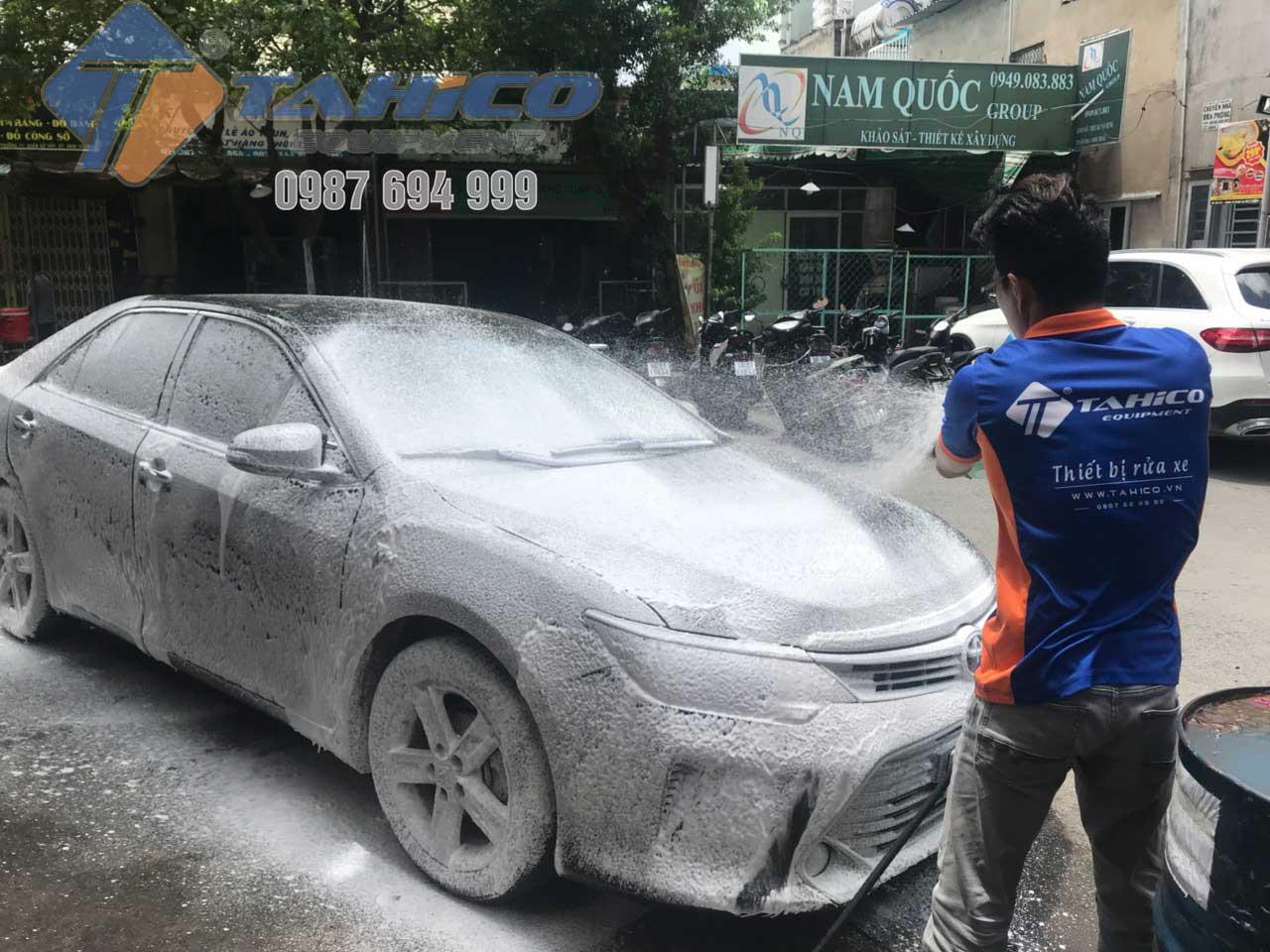 Công nghệ rửa xe bọt tuyết