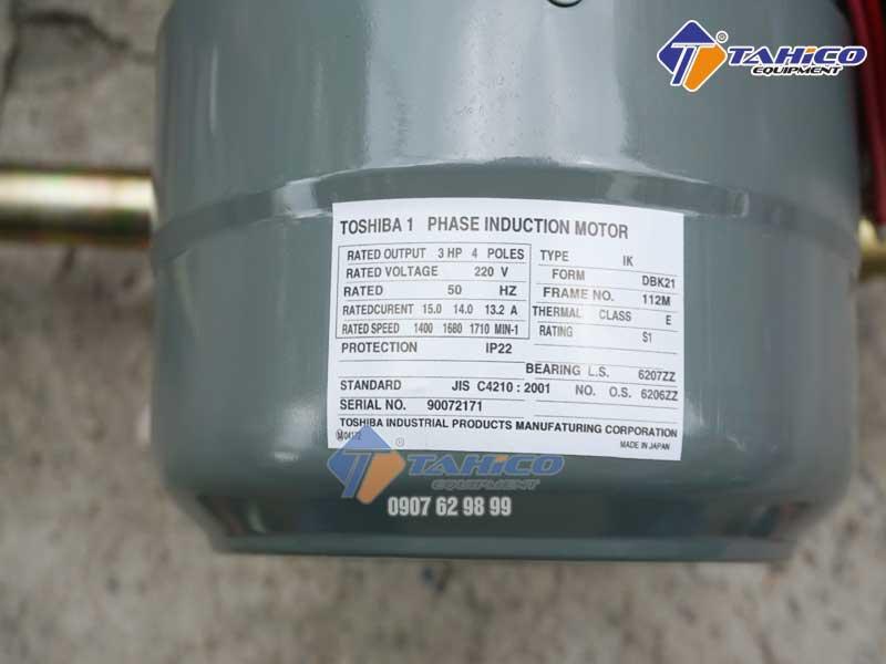 Thông số máy Motor máy rửa xe dây đai