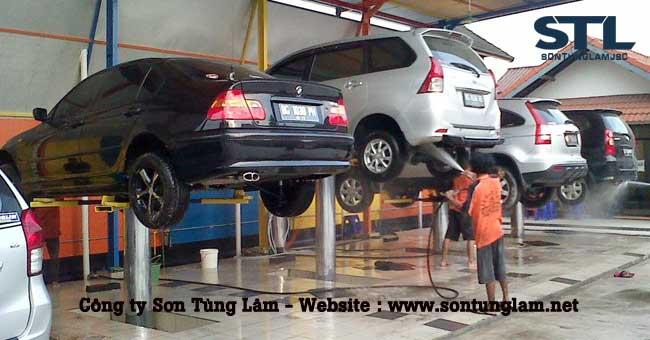 máy bơm rửa xe ô tô
