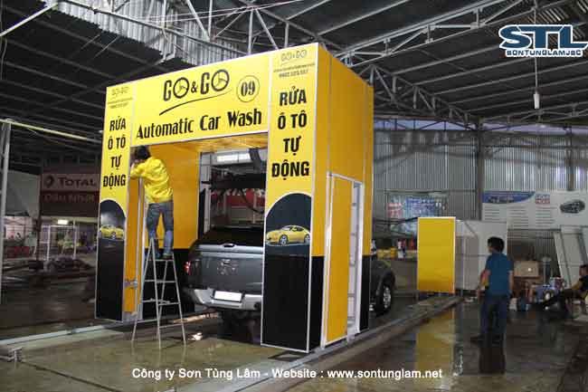 Hệ thống rửa xe tự động phun nước