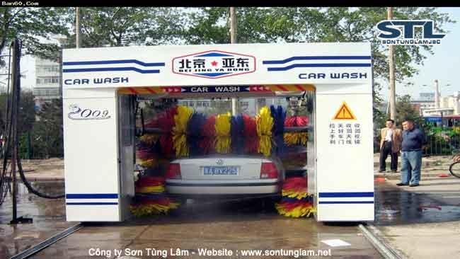 Hệ thống máy rửa xe tự động