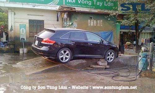 Bất tiện của việc rửa xe bằng cầu bê tông