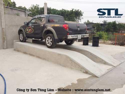 xây cầu rửa xe ô tô