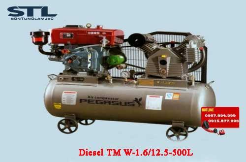 may nen khi chay dau diesel tm w 1.6/12.5 500l