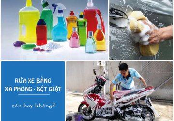 rua xe bang xa phong nuoc rua chen duoc khong