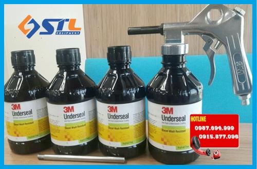 chai xit phu gam nhanh kho 3m underseal anti rust underchassis coating 1 lit