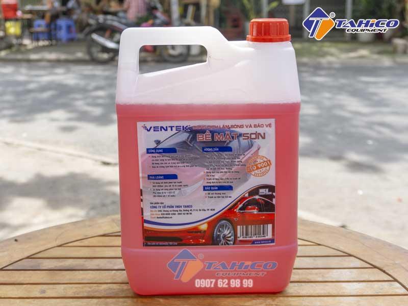 Dung dịch làm bóng sơn và bảo vệ thân xe ô tô du lịch Ventek 5 lít