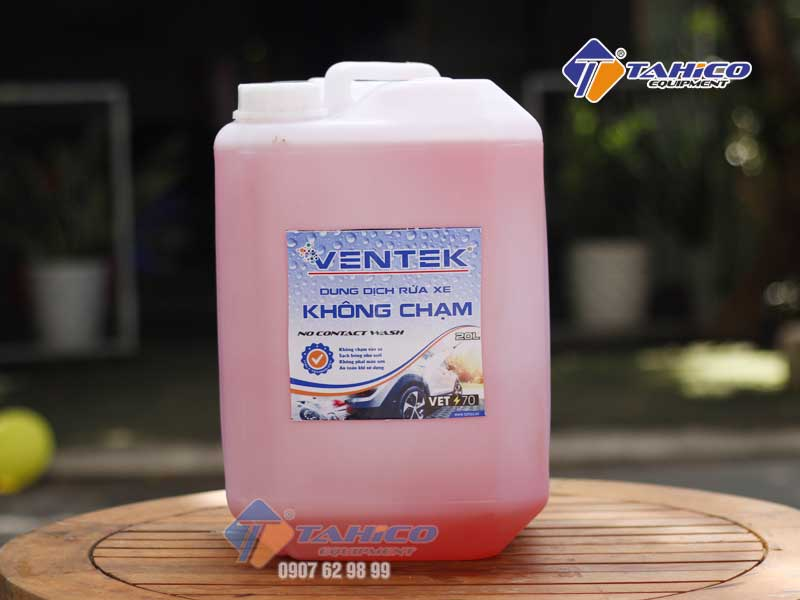 Dung dịch rửa xe bọt tuyết không chạm Ventek VET70 can 20 lít