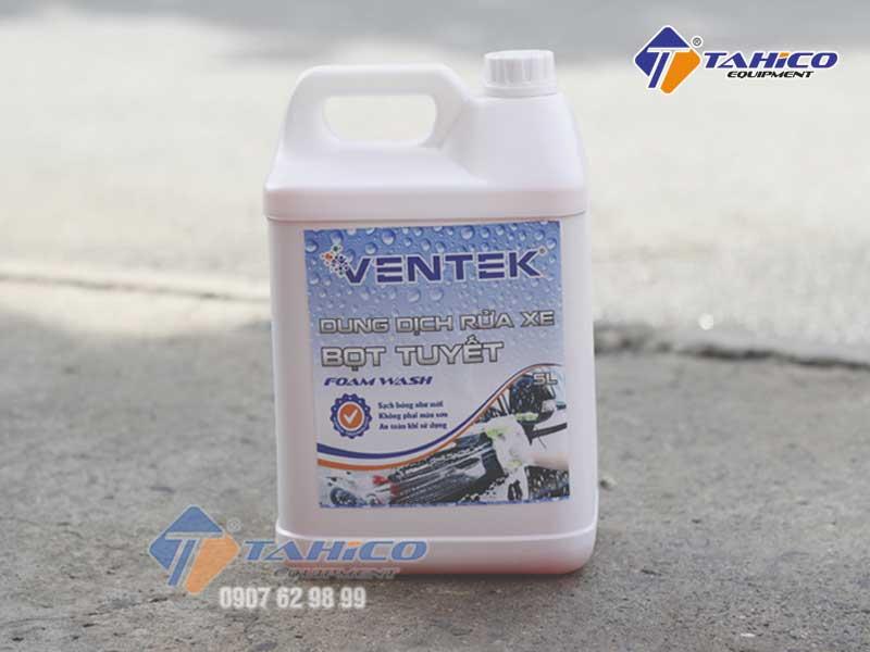Dung dịch rửa xe bọt tuyết Ventek can 5 lít